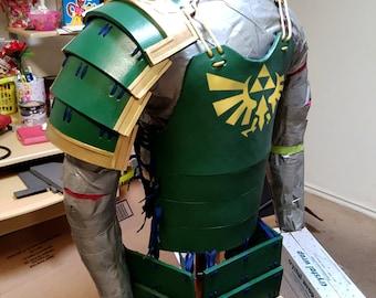 Samurai Armor The Legend of Zelda Cosplay Costume Link Hyrule Triforce