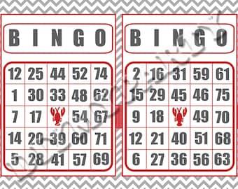 Printable Bingo Cards Party Game bingo game birthday party decor diy party bingo birthday games birthday party games bingo set of 30 (803)