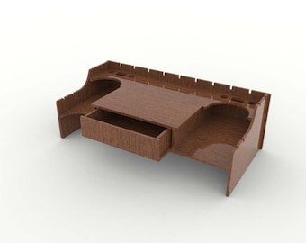 Monitor stand - Storage Boxes - cnc laser cutting file / Vector model for laser cut / drawing