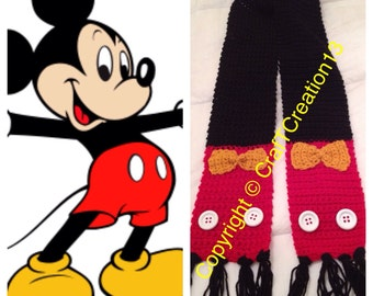 Classic Mickey Mouse inspired Scarf