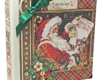 Graphic 45 - St. Nicholas - Festive Christmas 8x8 Album Kit Class