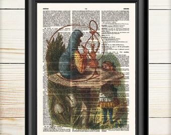 Alice in Wonderland, Caterpillar, Alice Art Print, Nursery Print,  154