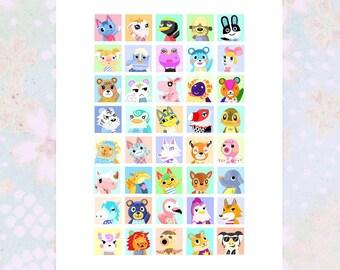 Animal Crossing Villager Character Print – Custom Print - Choose your favourite Animal Crossing Characters
