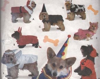 UNCUT Vintage Simplicity Crafts 8287 One Size Dogwear Dog Halloween Costume Sewing Pattern
