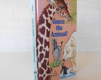 """Board Book """"Guess The Animal!"""" A Golden Sturdy Book, Fun Pictures / Zoo Animals / Ocean Animals / by Lilian Obligado / Figure out the Clue"""