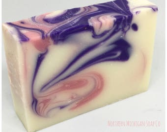 Victoria Shea Butter Bar Soap  / Sweet Citrus / Gift For Her / Gift For Women / Love Spell Type / Purple Soap / Pink Soap / Artisan Soap