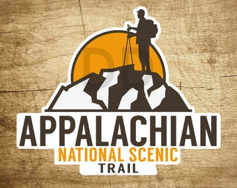 "Appalachian National Scenic Trail Hiking Sticker Decal 3.5"" x 3"""