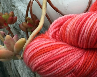 Quince Jelly hand dyed Australian 4ply sock yarn
