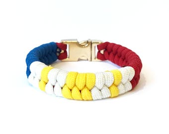 Philippine flag Mens & Women Paracord Survival Bracelet Jewelry Limited Edition