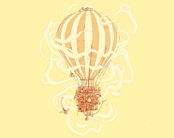 Screen printed poster balloon / Screenprint poster