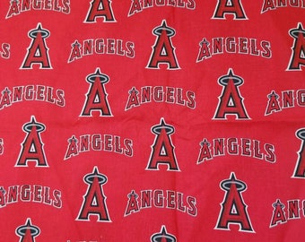 Los Angeles Angels baseball team 100% cotton fabric red sports theme
