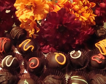 Dark chocolate truffles 12 Pc.