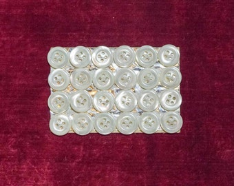 Card of 24 Mother of Pearl Buttons
