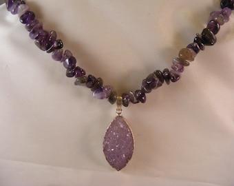 Amythest Sterling Silver Necklace