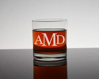 Engraved Rocks Glass, Monogram Whiskey Glass, Bourbon Glass, Rocks Glasses, Personalized Groomsmen Glasses, Gifts for Groomsman, Bachelor