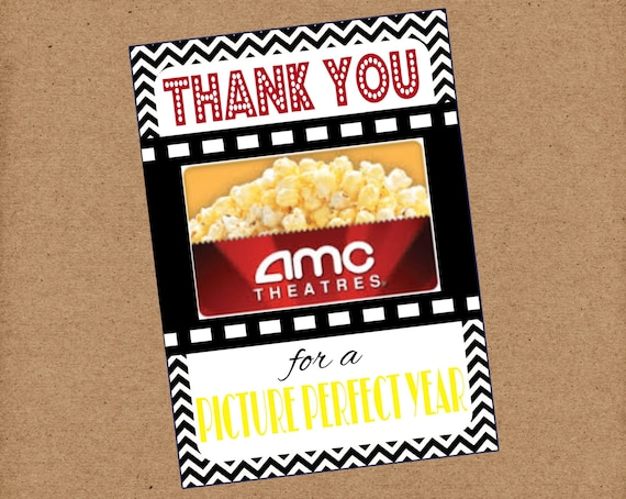 thank you for a picture perfect year movie gift card teacher