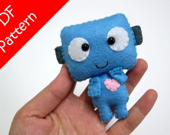 Robot Plush PDF Pattern -Instant Digital Download