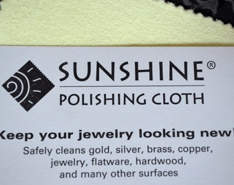 Sunshine Polishing Cloth for Sterling Silver, Copper, and Aluminum