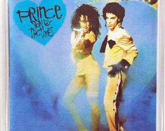 Prince Sign 'O' the Times Sheena Easton Concert movie poster Square Fridge Magnet & Square Keyring - New
