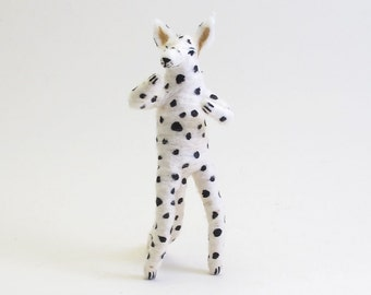 Spun Cotton Vintage Inspired Dalmation Dog Figure/Ornament (MADE TO ORDER)