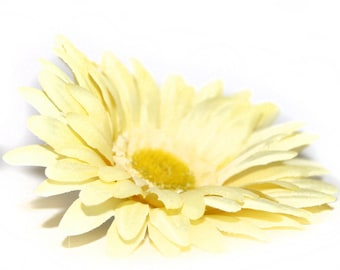 1 Light Yellow Silk Daisy - Artificial Flowers, Silk Flowers