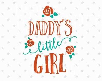 Daddy's Little Girl svg Baby Girl svg Baby svg File Daddys Little Girl svg Little Girl svg Baby svg Silhouette Kid t-shirt svg Cricut svg