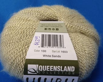 CLEARANCE!! Off-white Queensland Collection's Fun Cotton/Acrylic/Polyester Fingering Weight ULURU Yarn