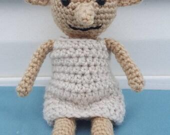 Crochet Harry Potter, Dobby the free Elf doll.