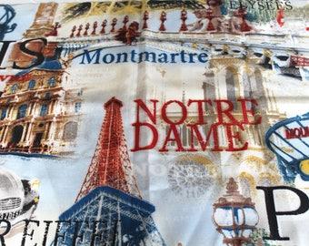 Coupon fabric upholstery Paris 65 x 50 cm