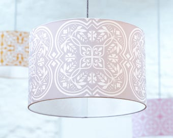 Moroccan lampshade in grey tile pattern homeware large moroccan lampshade in grey tile pattern homeware large lampshade ceiling light floor lamp lamp shade housewarming giftnew home gift aloadofball Image collections