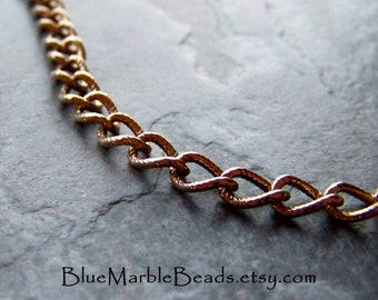 Gold Chain-Gold Plated Chain-Large Link Chain-Twisted-Textured-Open Link Chain-Charm Bracelet Chain-Chain By The Yard-Bulk Chain-One Yard