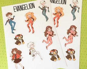 Evangelion Sticker Sheet