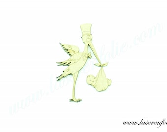 Stork on its 31 and baby, made of medium size 5cm