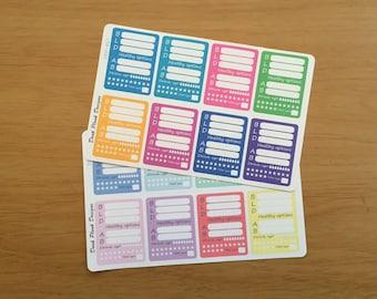 Slimming World daily checklist stickers for Erin Condren, Plum Paper, Filofax, Kikki K (DPD407-408)