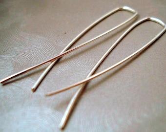 Earrings. Sterling Silver. Simple Modern Minimalist. Handmade Jewelry. Dangle & Drop Earrings.