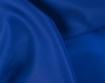 Blue Silk Satin Organza, Fabric By The Yard