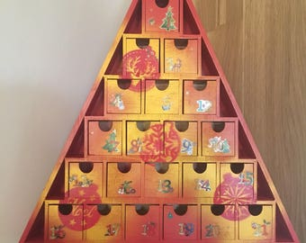 Advent calendar in bous painted