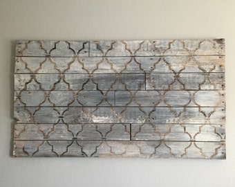 Rustic wood art piece