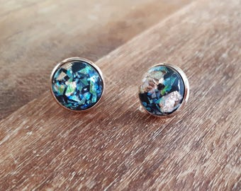 Earrings - Galaxy Glass - Rosegold