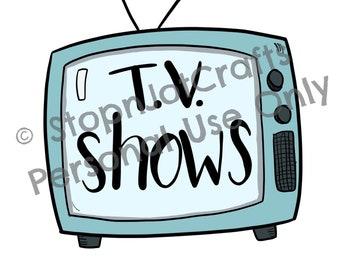 TV Shows Television Clip Art Digital Illustration Die Cut