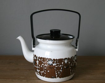 Finel Arabia Finland Kaj Franck coffee pot kettle enamel