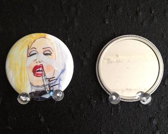 Sharon Needles original art pocket mirror