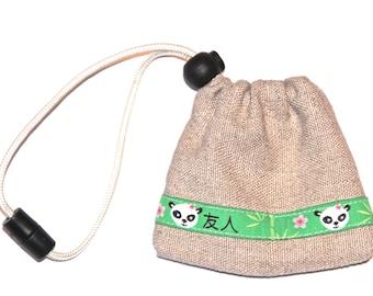 Poo bag or treat holder 'Hemp'