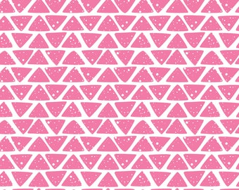 Pink Hand drawn Triangles - Permanent Glossy or Permanent Matte Vinyl