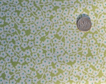 CLEARANCE - Bloom allover blooms in green - 1 yard