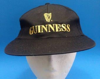 Vintage Guinness ZipBack Adjustable Hat 1990s Beer