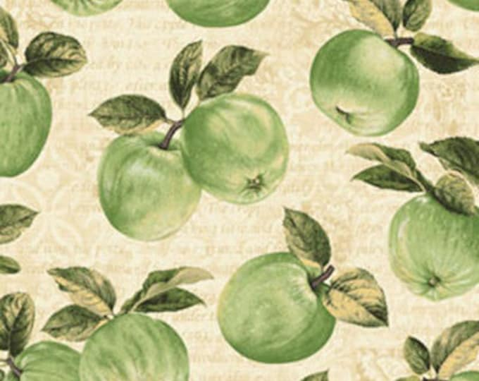 Half Yard Apple Picking Time - Apple Orchard in Cream - Cotton Quilt Fabric - Benartex (W1814)