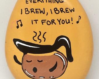 Art Rock - Hand Painted Original Art - Brew It for You - Garden Gift