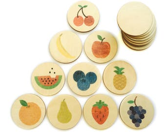 fruit - memory match | my little set | wooden game | story stones | memory match |