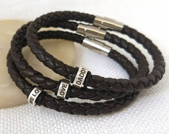 Fathers day gift, fathers day bracelet, gifts for dad, fathers day gifts, daddy bracelet, love you daddy, first fathers day, daddy gifts